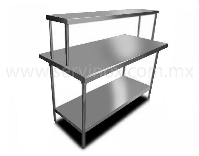 Mesa de trabajo con repisa y piso caracteristicas mesa de - Mesa de trabajo acero inoxidable ...