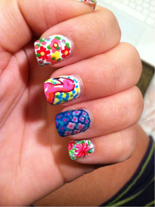 lilly nails from Sea Swept Hair: Nailart, Art Designs, Lillypulitzer, Lilly Nails, Nailss, Nail Design, Art Nails, Nail Art