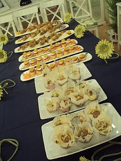 Table set at Manal Alalem's cooking show