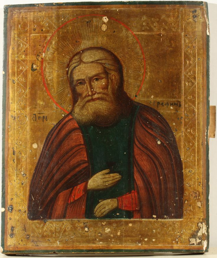 A RUSSIAN ICON OF SAINT SERAPHIM OF SAROV, 19TH C.
