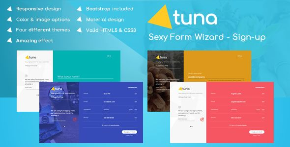 awesome Tuna Kind Wizard, Signup, Login, Reservation and Questionnaire (Types)