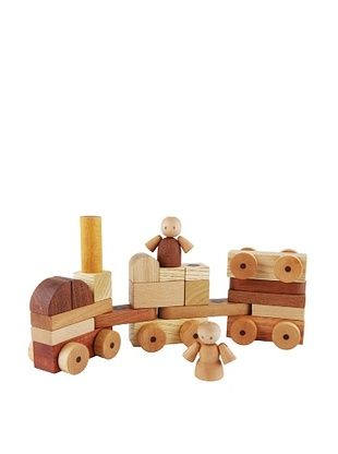 31% OFF Soopsori Magnetic Wooden Cars & Blocks, 26-Piece