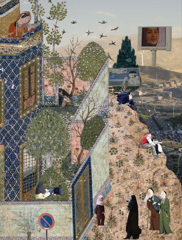 Lovers Picnicking - Soody Sharifi. Galerie Kashya Hildebrand, Zurich, Switzerland. #Iran #Contemporary art #art