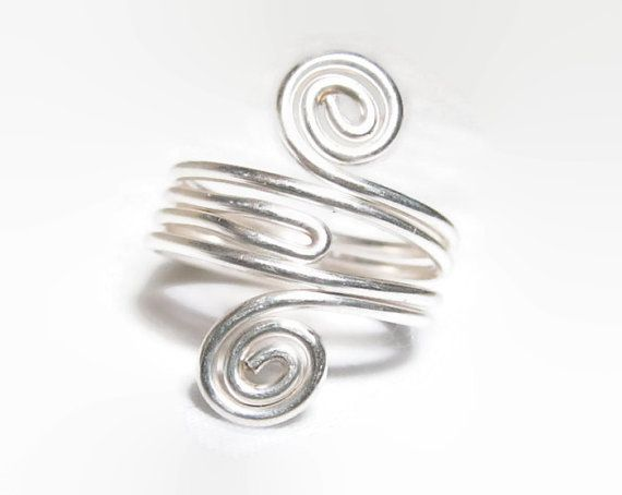 Sterling Silver Knuckle Ring Toe Ring Sterling by DonKatChaJewelry