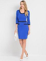 Платье Stets  трикотажное платье выполненное в стиле color-block с рукавами 3/4 и накладными карманами.. Платье Stets промокоды купоны акции.