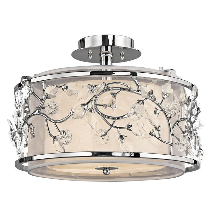 Kichler 42306 Jardine 3 Light Semi-flush Indoor Ceiling Fixture Chrome Indoor Lighting Ceiling Fixtures Semi-Flush
