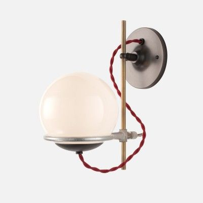 Orbit Sconce Opal: Lights Fixtures, Bathroom Sconces, Red Cords, Schoolhouse Electric, Wall Sconces, Sconces Lights, Orbit Sconces, Sconces Opals, Opals Lights