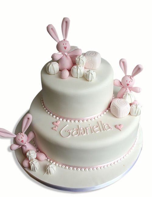 christening cake bunnies - Google Search