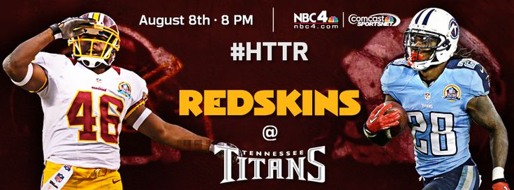 Game 1 of the pre-season: #Redskins at Titans. #HTTR #LiveIt