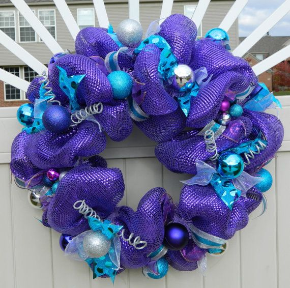 21 Best Teal Purple And Gold Christmas Images On Pinterest