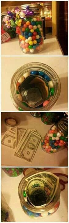 Great idea for giving away money as a present!