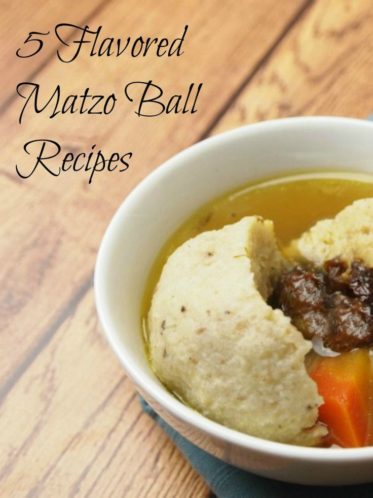 How do you matzo ball? Try one of these 5 reicpes for different flavors and/or fillings