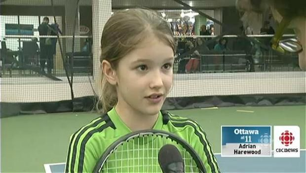 Eugenie Bouchard inspires young tennis players