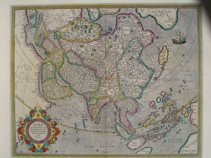 Asia from the great World [atlas] described by Gerhard Mercator 1595