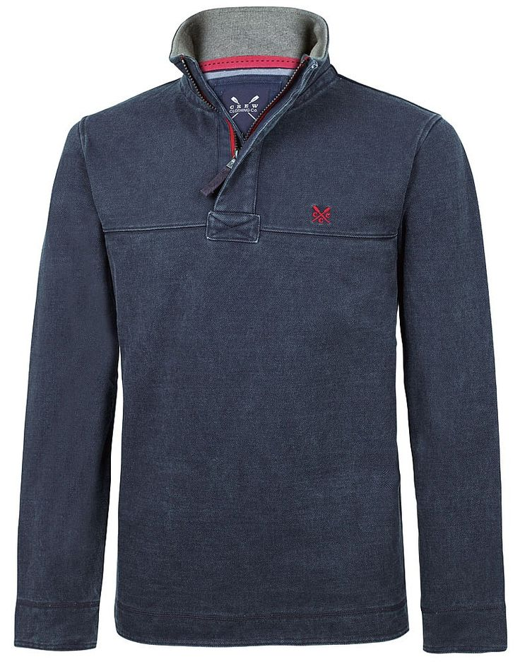 Buy our Men's Padstow Pique Sweat for £55 available in Navy at Crew Clothing. For more sweatshirts & hoodies, visit Crew Clothing.