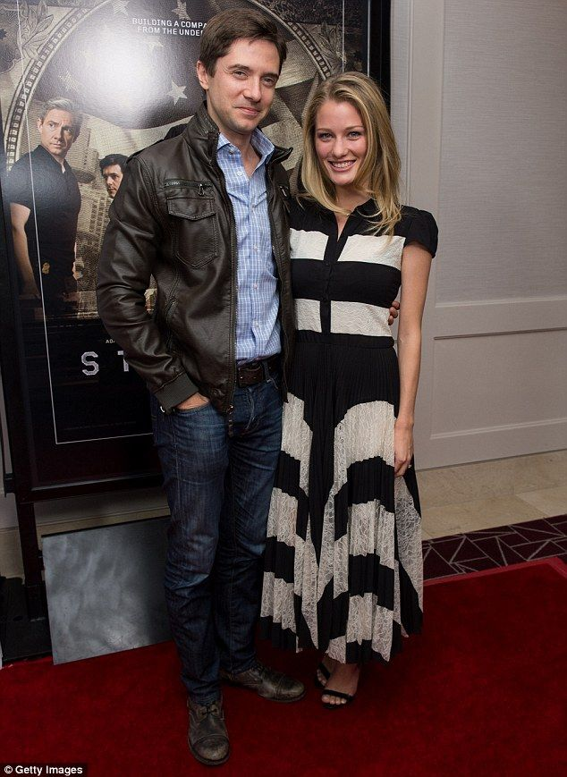 In love: Ashley Hinshaw, who plays Taylor, arrived at the screening with her husband actor Topher Grace
