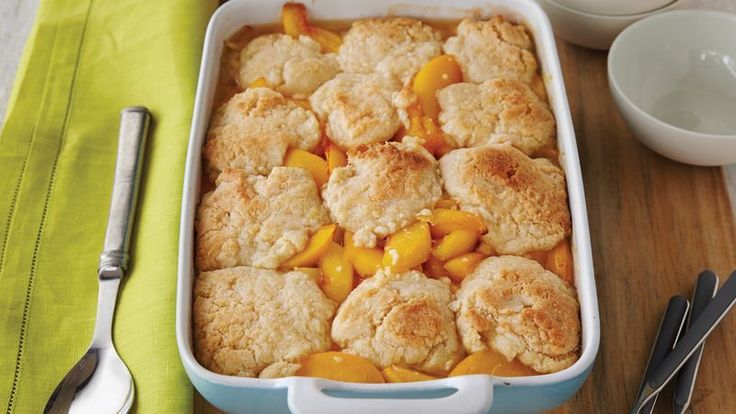 Peaches, nectarines and Betty Crocker™ cookie mix pair up in this tasty cobbler - a delectable baked dessert.