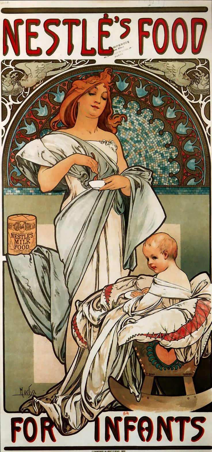 chromehearts uk Nestl  s Food for Infants  Alphonse Mucha    Style Art Nouveau Modern