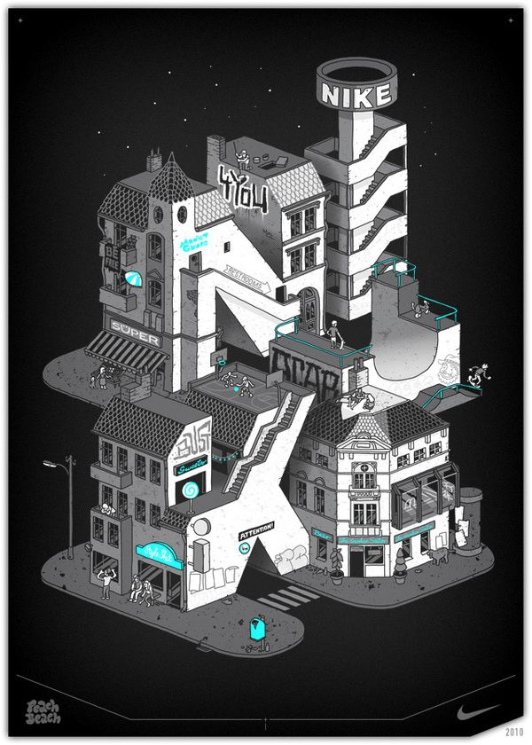 NIKE Illustrations by PEACHBEACH , via Behance