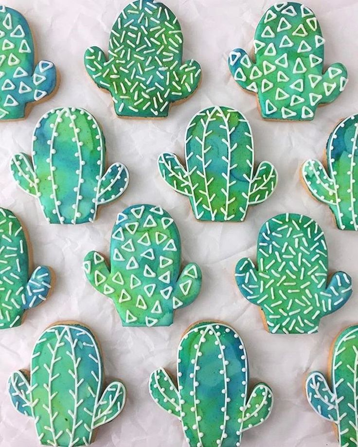 "704 Likes, 10 Comments - Tony and Heather (@kaleidacuts) on Instagram: ""Watercolor and geometric patterned chubby cactus cookies my  happy!!! @bibethplybon at…"""