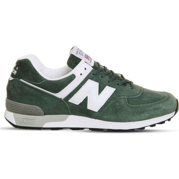 NEW BALANCE 576 suede trainers ($145) ❤ liked on Polyvore featuring shoes, sneakers, mens white suede shoes, mens suede sneakers, mens leopard print shoes, american eagle mens shoes and mens sport shoes