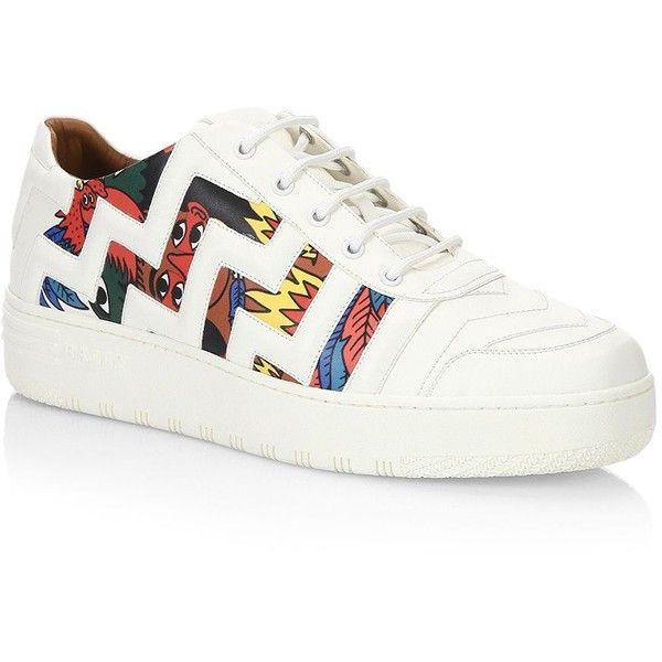 Bally Bally X Swizz Beatz Leather Sneakers (11,845 MXN) ❤ liked on Polyvore featuring men's fashion, men's shoes, men's sneakers, bally mens sneakers, mens leather sneakers, bally mens shoes, mens shoes and mens sneakers