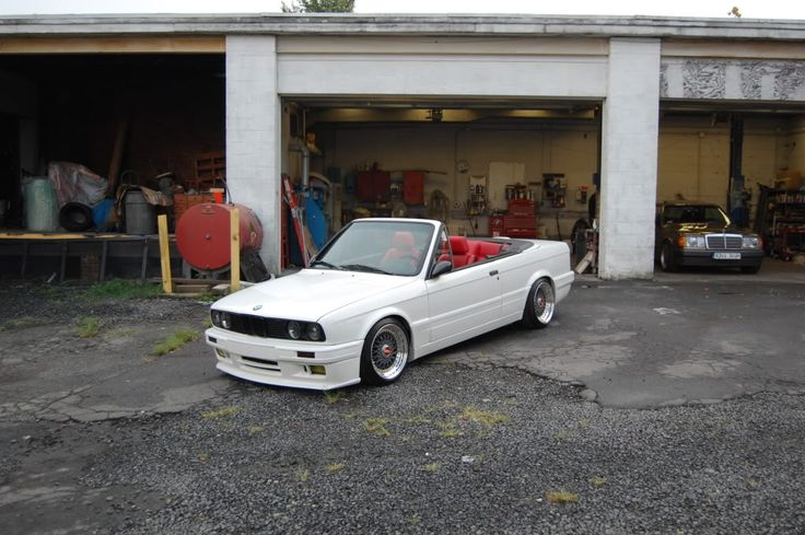 My Build Garage - BMW E30 M-Tech II convertible restoration! BBS RS, Custom Interior, Coilover suspension, Scorpion Exhaust, rare 5 speed – full restoration !