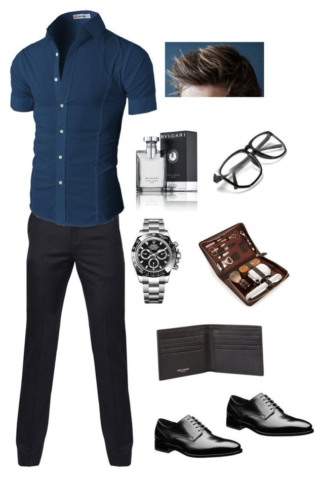 """Dream Boy"" by booksandeverydayfashion on Polyvore featuring Paul Smith, Bulgari, Rolex, Yves Saint Laurent, F. Hammann, men's fashion and menswear"