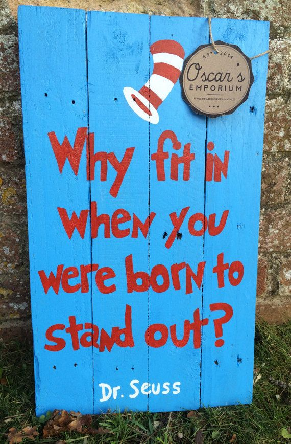 Wooden Sign Hand Painted Dr Suess Quote by OscarsEmporiumShop
