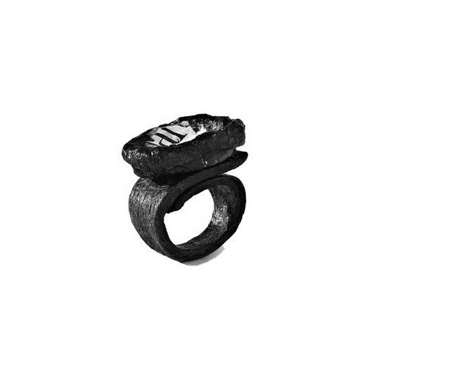 black and words - ring