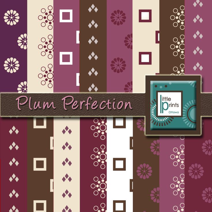 Digital Paper - Plum Perfection, Digital scrapbook paper, plum background, purple background, invitation paper, printable paper - pinned by pin4etsy.com