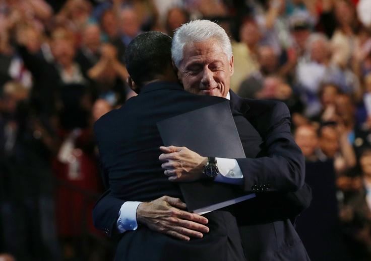 Bill and Obama