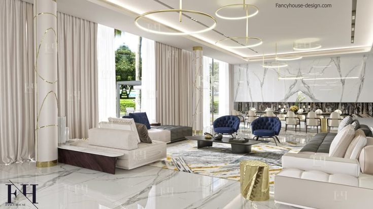Modern Interior Design For A Luxury House In Dubai By Fancy House