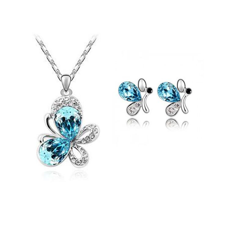 2016 New Silver Plated Jewelry Sets CZ Diamond Wedding African Bridal Top Quality for women accessories Christmas Valentine Gift