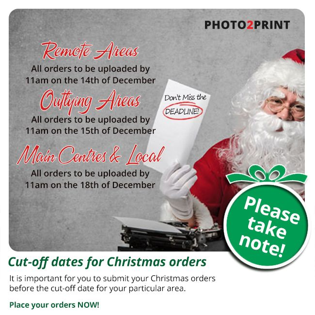Please take note of our final cut-off dates for Christmas orders. Orders submitted after these dates will only be processed in January 2018. #pleasetakenote #getthemordersin