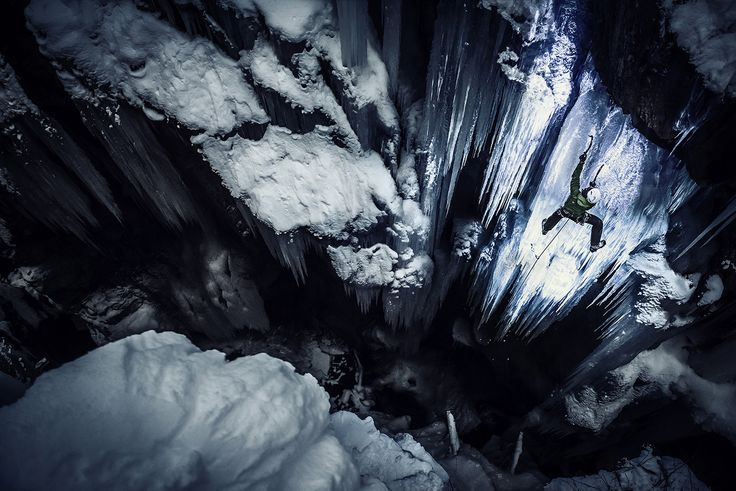 Red Bull Illume - The Other Look with UV Light – Shooting Ice Climbing with Markus Berger.