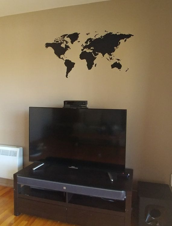 17 best ideas about world map mural on pinterest world for Decalque mural