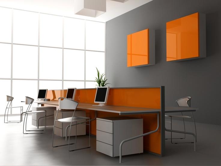 Splash of orange in the office.