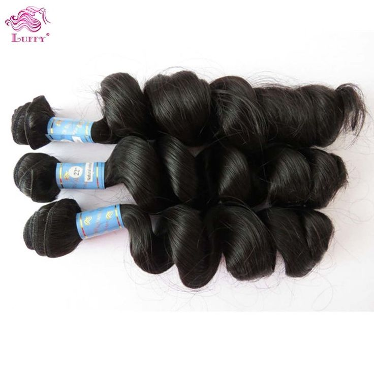 Peruvian Virgin Hair Weave Double Drawn Loose Wave Hair Extensions 3 Bundles #LooseWave #HairExtension