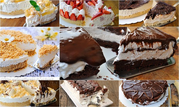 Torte fredde senza forno, ricette facili e veloci, dolci freddi, torte gelato al limone, cioccolato, fragola, torte alla frutta fresche, torte anche senza cottura