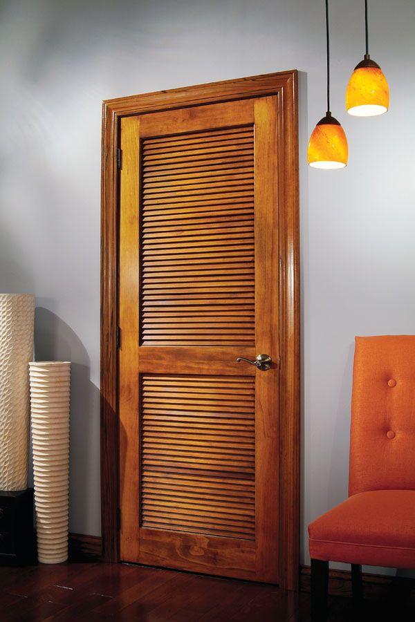 Woodgrain Doorsu0027 Radiata Pine Louver Over Louver Door. Black Millwork Co.  In Allendale