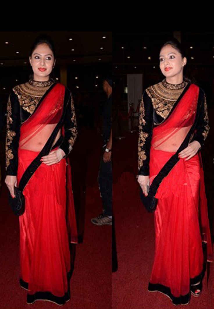 Red Color Net Saree - Rs. 3249.00