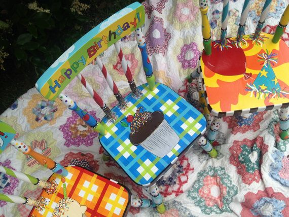 Happy Birthday Chair Birthday Chair for Kids Child's by elliesshop