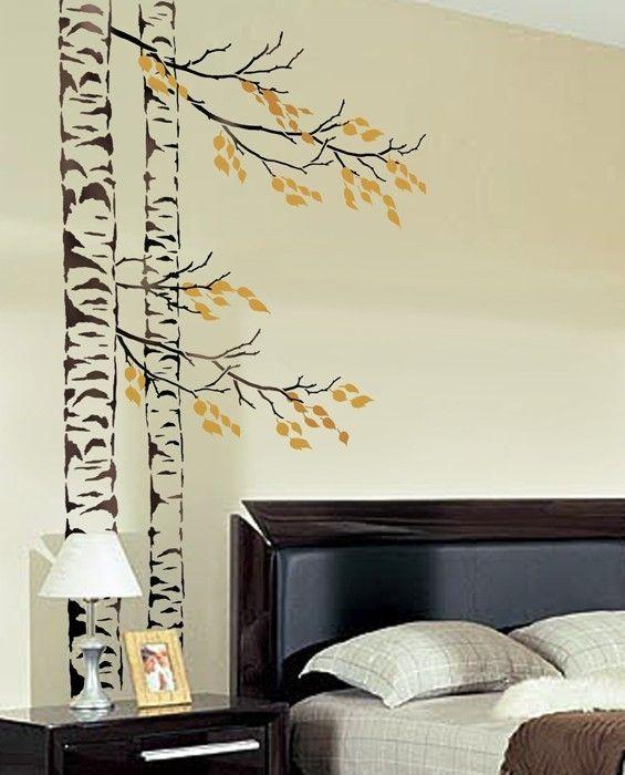 1000 id es sur le th me pochoirs de mur d 39 arbre sur pinterest mur au pochoir cutting edge. Black Bedroom Furniture Sets. Home Design Ideas