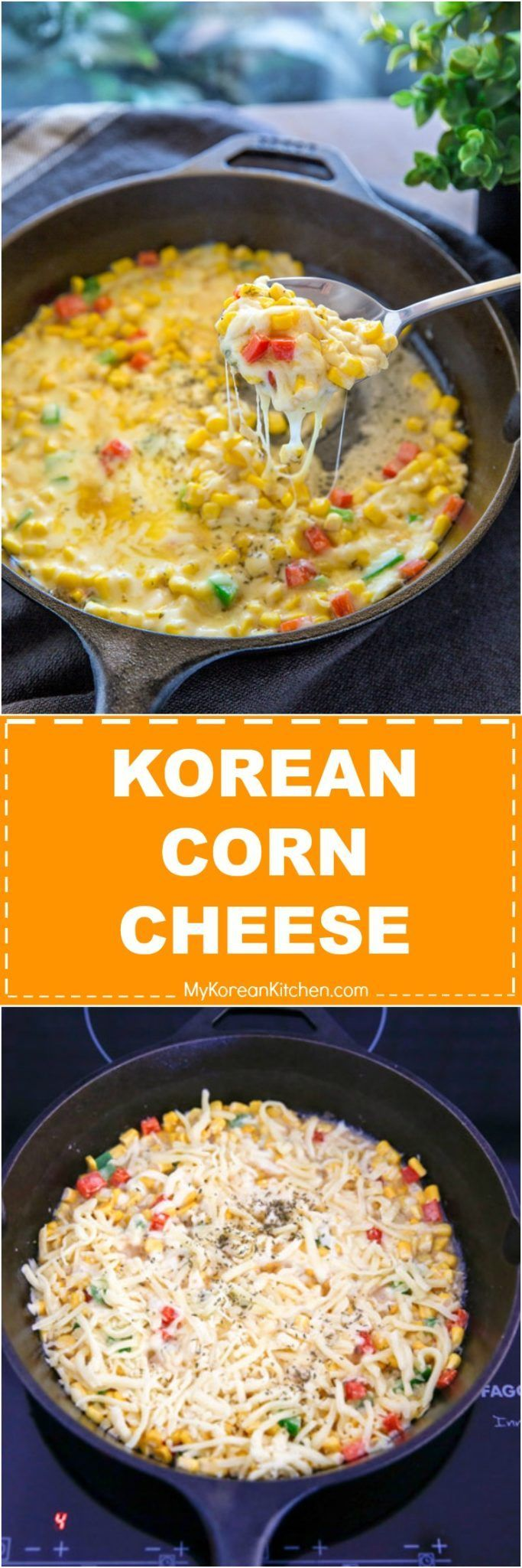 How to Make Korean Corn Cheese. It's a trendy and popular Korean appetizer! | MyKoreanKitchen.com via @mykoreankitchen