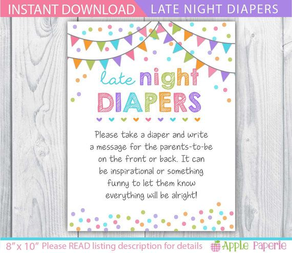 late night diapers / late night diapers sign / by TinyConfetti