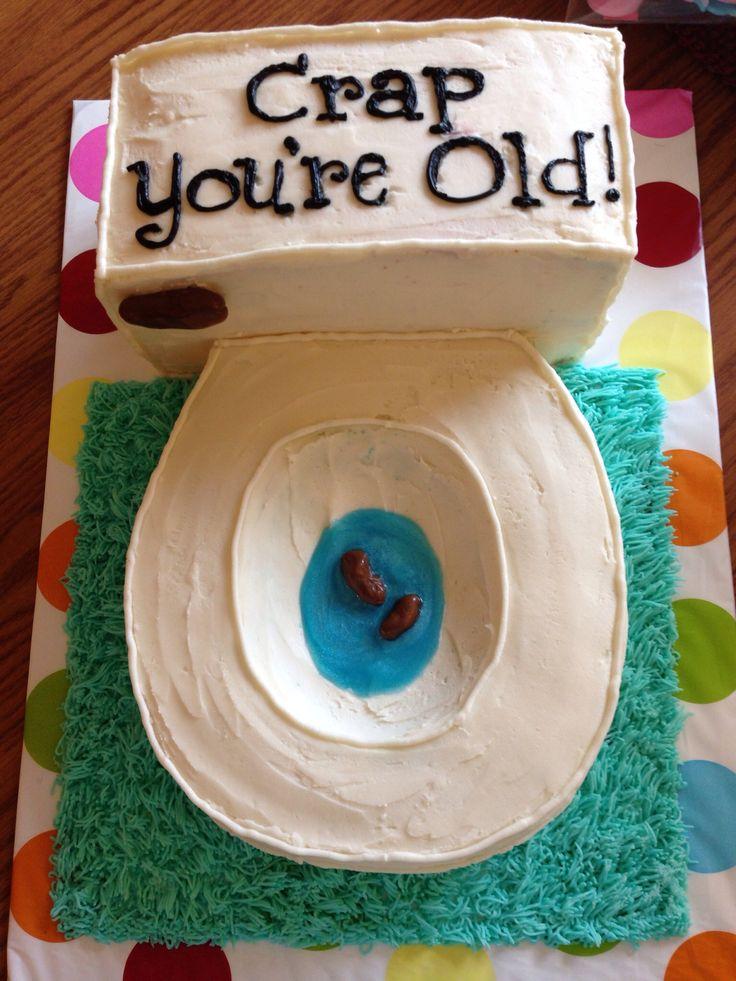 40th Birthday Toilet Cake Birthdays Pinterest
