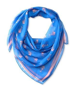 61% OFF Terracotta New York Women's The Finley Fishbone Scarf, Blue/Pink