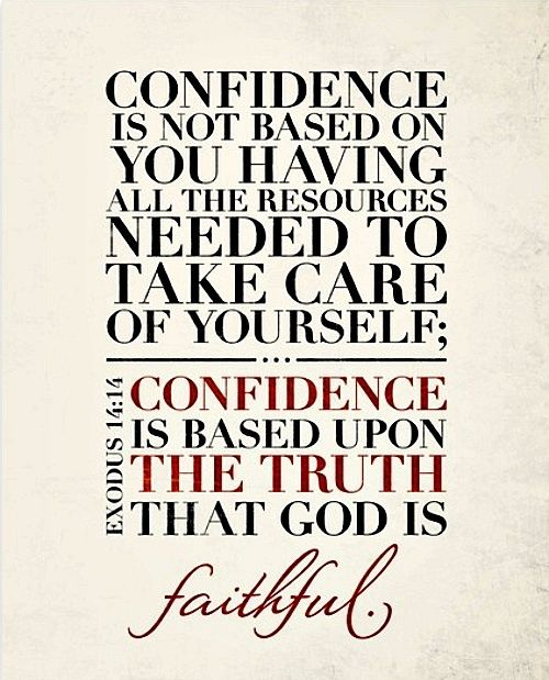 Confidence quotes faith bible christian scriptures