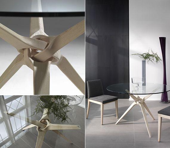 designer esstisch glasplatte holzbasis | möbelideen, Esszimmer dekoo